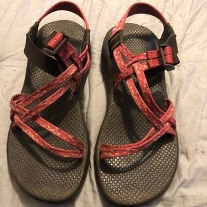 Gently used Pink/mauve Chacos women's size 9M